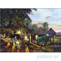 HadleyHouseCo 'New Tractor for Show' by Dave Barnhouse Painting Print HADL2097