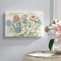 Lark Manor Le Jardin Printemps Graphic Art on Wrapped Canvas LARK7440