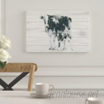 Laurel Foundry Modern Farmhouse Cow and Calf on Wood Graphic Art on Wrapped Canvas LRFY1809