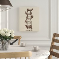 Laurel Foundry Modern Farmhouse Cow Cow Nuts Graphic Art on Wrapped Canvas LRFY5394