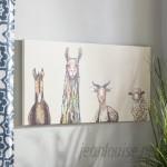 Mercury Row 'Donkey, Llama, Goat, Sheep' Acrylic Painting Print on Canvas in Cream MCRW3303