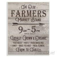 Stupell Industries Vintage Sign 'The Old Farmers Market Stand' Textual Art VYH4049