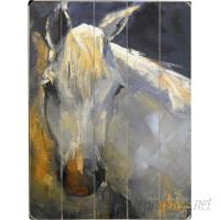 Three Posts White Horse Wall Art THRE6750