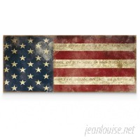 WexfordHome 'I Pledge Allegiance' by Carol Robinson Graphic Art on Wrapped Canvas WEXF1952
