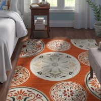 Andover Mills Niagara Orange/Beige Outdoor Area Rug ANDO5856