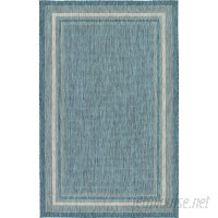 August Grove Keira Teal Outdoor Area Rug AGGR6218