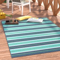 Beachcrest Home Kailani Blue/Green Indoor/Outdoor Area Rug BCMH2309