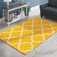 Charlton Home Cynthia Wool Yellow Indoor/Outdoor Area Rug CHRH4911