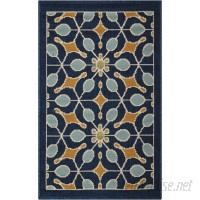 Charlton Home Stebbins Navy Indoor/Outdoor Area Rug CHRH7426