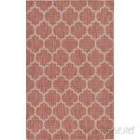 Charlton Home Tandridge Rust Outdoor Red Area Rug CHLH6647