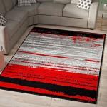 Ebern Designs Grieco Contemporary Red/Black Indoor/Outdoor Area Rug EBDG4732