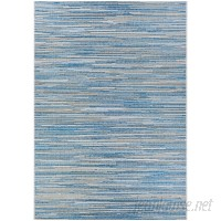 Langley Street Lorenzo Blue/Gray Indoor/Outdoor Area Rug LGLY6956