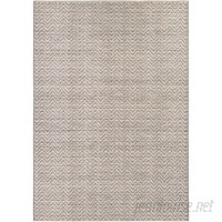 Latitude Run Carla Light Brown/Ivory Indoor/Outdoor Area Rug LTRN4403