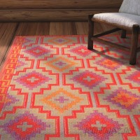 Loon Peak Patterson Square Red Indoor/Outdoor Area Rug LNPE7113