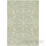 One Allium Way Kempton Ivory/Light Green Indoor/Outdoor Area Rug ONAW6030