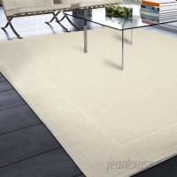Three Posts Acton Ivory Solid Indoor/Outdoor Area Rug THRE6926