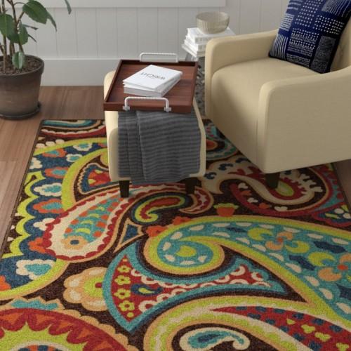 Winston Porter Alayna Brown Indoor/Outdoor Area Rug WNPR2545