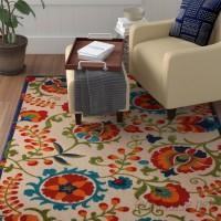 Winston Porter Kimbell Donohoe Beige/Green Indoor/Outdoor Area Rug WNST3848