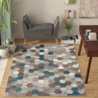 Wrought Studio Catalan Beige/Blue Indoor/Outdoor Area Rug VRKG1506