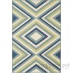 Wrought Studio Wexler Blue/Green Indoor/Outdoor Area Rug VKGL4991