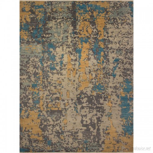 17 Stories One-of-a-Kind Muzammil Hand Knotted Wool Silver Area Rug STSS5700