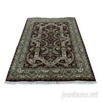 Astoria Grand One-of-a-Kind Rudolph New Zealand 300 KPSI Hand-Knotted Blue/Green/Black Area Rug ASTD1475