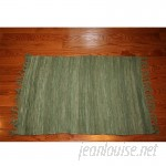 Bay Isle Home One-of-a-Kind Linmore Solid Celadon Hand-Woven Green Area Rug HOJE1183