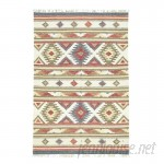 Bloomsbury Market Anatolian Durie Kilim Flat Weave Hand-Knotted Red/Olive Green/Beige Area Rug RGRG5753