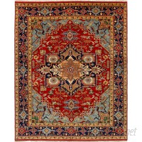 Bloomsbury Market One-of-a-Kind Briggs Hand-Knotted Wool Red Area Rug BLMA5125