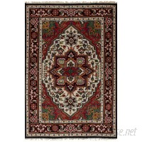 Bloomsbury Market One-of-a-Kind Larsen Oriental Hand-Knotted Wool Red Area Rug BLMT5933