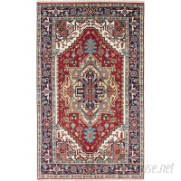 Bloomsbury Market One-of-a-Kind Lenita Handmade Wool Navy Blue/Red Area Rug BLMK3728