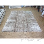 Bloomsbury Market One-of-a-Kind Padang Sidempuan Modern Hand-Knotted Wool Ivory/Brown Area Rug OLRG1591