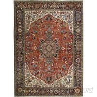 Bokara Rug Co., Inc. Hand-Woven Wool Rust/Ivory Area Rug BRCI1483