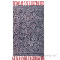 Bungalow Rose One-of-a-Kind Pickney Hand-Woven Cotton Navy Area Rug MAEM1015