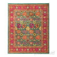 Darya Rugs One-of-a-Kind Eclectic Vivid Hand-Knotted Multicolor Area Rug DYAR2365