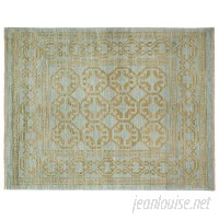 Darya Rugs One-of-a-Kind Oushak Hand-Knotted Blue Area Rug DYAR1871