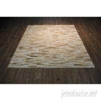 Foundry Select One-Of-A-Kind Cicco Hand-Woven Beige Area Rug FNDS2734