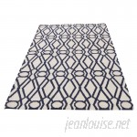 House of Hampton One-of-a-Kind Reversible Durie Kilim Hand-Knotted Ivory/Navy Area Rug RGRG3221