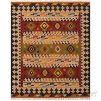 Loon Peak One-of-a-Kind Fieldstone Handmade Wool Cream/Red Area Rug LOPK4889