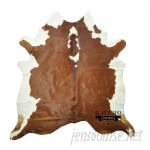 Loon Peak One-of-a-Kind Pinion Cowhide Brown/White Area Rug LNPE6144