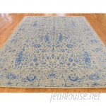 One Allium Way One-of-a-Kind Oriane Broken Oriental Hand-Knotted Silk Area Rug ONAW5656