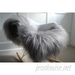 Union Rustic One-of-a-Kind Nutting Pelt Hand-Woven Sheepskin Gray Area Rug UNRS7244