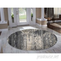 Williston Forge One-of-a-Kind Abstract Hand-Knotted Gray/Cream Area Rug RGRG3936