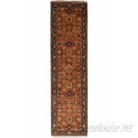 World Menagerie One-of-a-Kind Lester Hand-Knotted Wool Dark Copper Area Rug WRMG5724