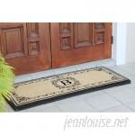 A1 Home Collections LLC Filigree Decorative Border Monogrammed Doormat AHOC1482