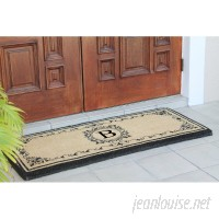 A1 Home Collections LLC Filigree Decorative Border Monogrammed Doormat AHOC1482