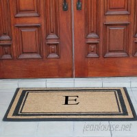A1 Home Collections LLC First Impression Markham Border Doubledoor Monogrammed Doormat AHOC1287