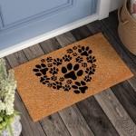 Andover Mills Lattimore Heart Paws Doormat ANDV2135