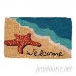 Beachcrest Home Ines Starfish Welcome Doormat BCMH4589