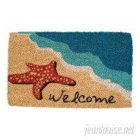 Beachcrest Home Ines  Starfish Welcome Doormat BCMH4589